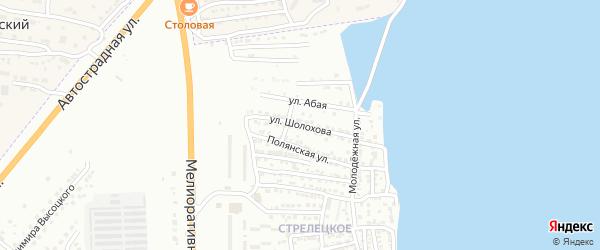 Улица Михаила Шолохова на карте Астрахани с номерами домов