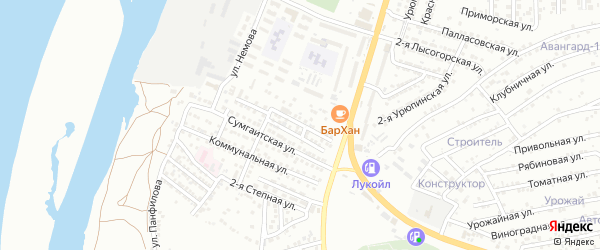 Коллективная улица на карте Астрахани с номерами домов