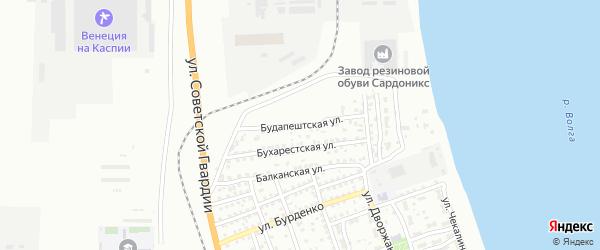 Будапештская улица на карте Астрахани с номерами домов