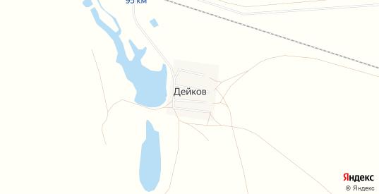 Карта хутора Дейков в Саратовской области с улицами, домами и почтовыми отделениями со спутника онлайн