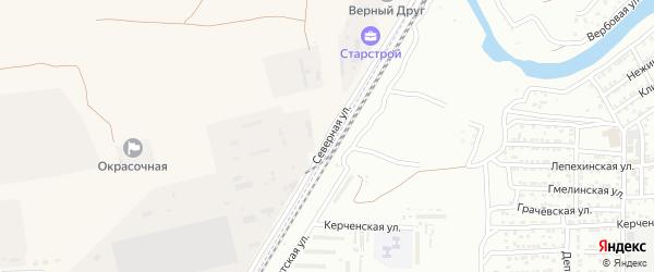 Северная улица на карте поселка Трусово Астраханской области с номерами домов