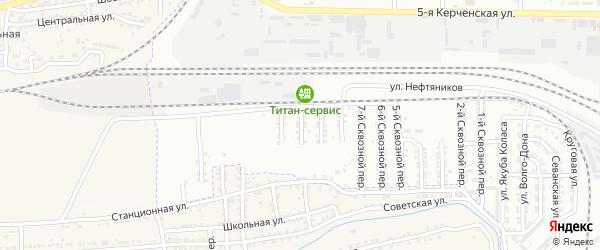 Сквозной 10-й переулок на карте Астрахани с номерами домов