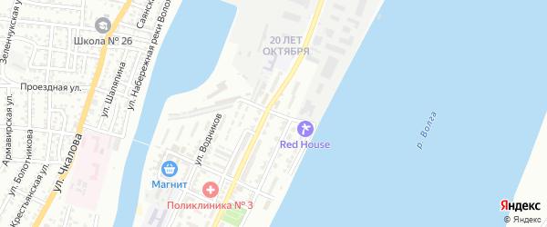 Капитанская улица на карте Астрахани с номерами домов