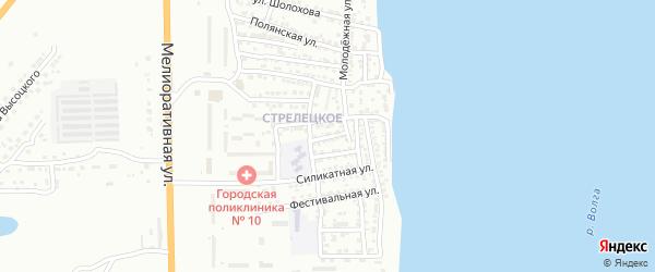 Электрическая улица на карте Астрахани с номерами домов
