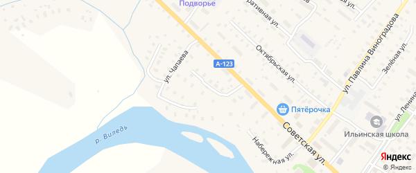Улица Полушина на карте Ильинско-Подомского села Архангельской области с номерами домов