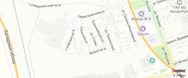 Улица Славы на карте Астрахани с номерами домов