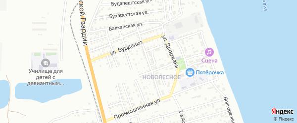 Улица Азизбекова на карте Астрахани с номерами домов