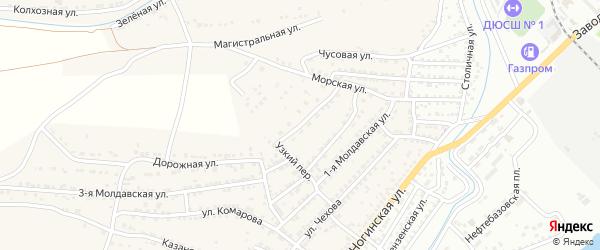 Строительная улица на карте села Старокучергановка Астраханской области с номерами домов