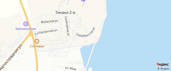 Серебристая улица на карте поселка Тинаки 2-ые с номерами домов