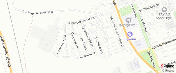 Тузуклейская улица на карте Астрахани с номерами домов