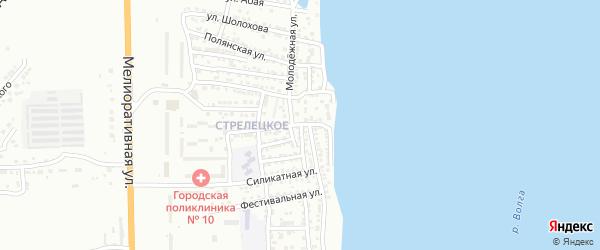 Улица Первостроителей на карте Астрахани с номерами домов