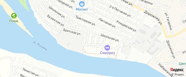 Пионерская 1-я улица на карте Астрахани с номерами домов