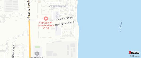 Фестивальный переулок на карте Астрахани с номерами домов