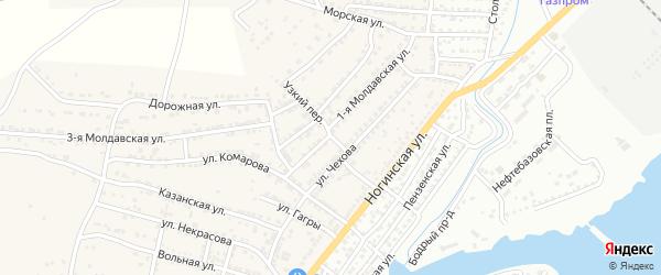Узкий переулок на карте села Старокучергановка с номерами домов