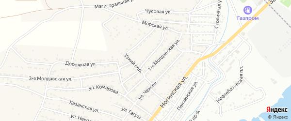 Молдавская 2-я улица на карте села Старокучергановка с номерами домов