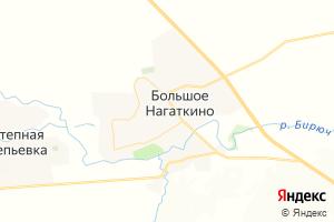 Карта с. Большое Нагаткино Ульяновская область