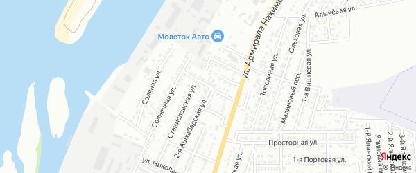 Самарская улица на карте Астрахани с номерами домов