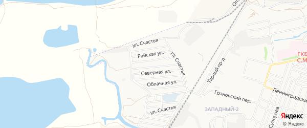 Садовое товарищество Авиатор на карте Астрахани с номерами домов
