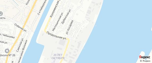 Улица Осипенко на карте Астрахани с номерами домов