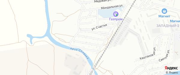 Коммунальников 1-й переулок на карте Астрахани с номерами домов