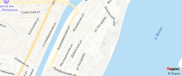 Улица Косарева на карте Астрахани с номерами домов