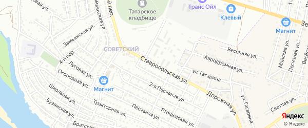 Ставропольская улица на карте Астрахани с номерами домов