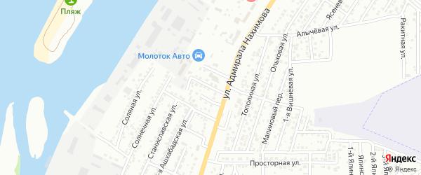 2-й Самарский переулок на карте Астрахани с номерами домов