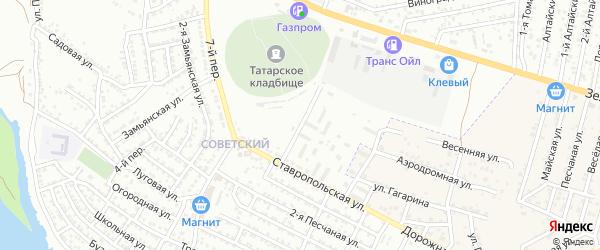 Улица Строителей на карте Астрахани с номерами домов