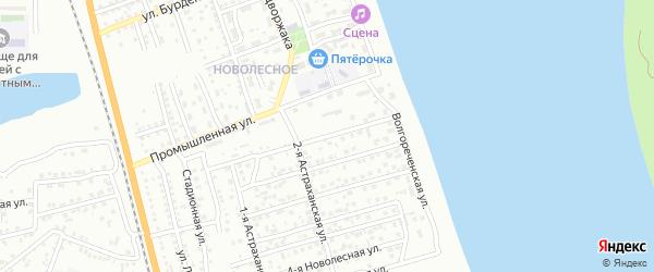 Новолесная 8-я улица на карте Астрахани с номерами домов