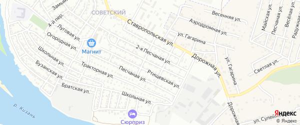 Озинская улица на карте Астрахани с номерами домов