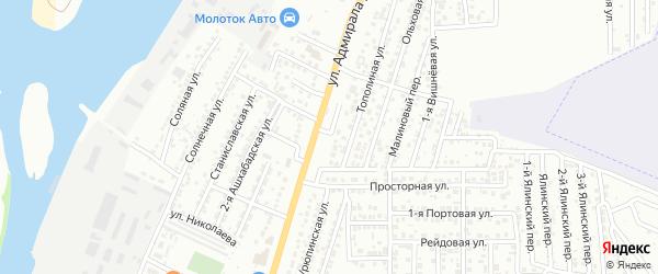 Ежевичная улица на карте Астрахани с номерами домов