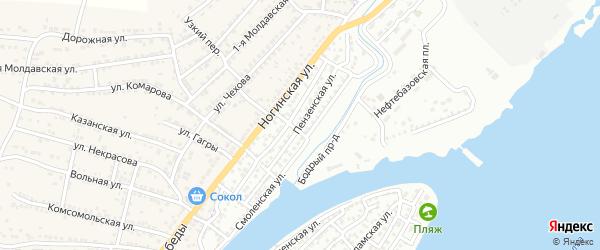 Пензенская улица на карте Астрахани с номерами домов
