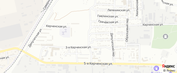 1-й Депутатский переулок на карте Астрахани с номерами домов
