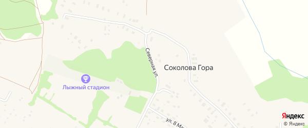 Северная улица на карте Ильинско-Подомского села Архангельской области с номерами домов