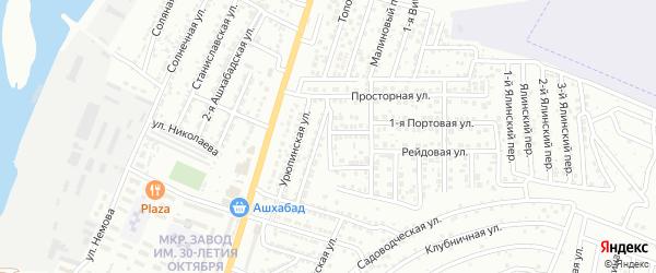 Ключевая улица на карте Астрахани с номерами домов