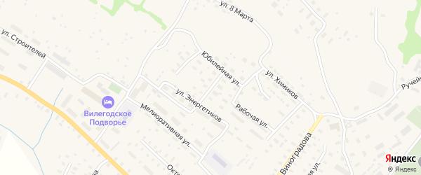 Пречистенская улица на карте Ильинско-Подомского села Архангельской области с номерами домов