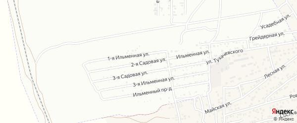 Ильменная улица на карте Керамика с номерами домов