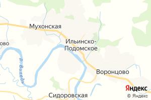 Карта с. Ильинско-Подомское Архангельская область