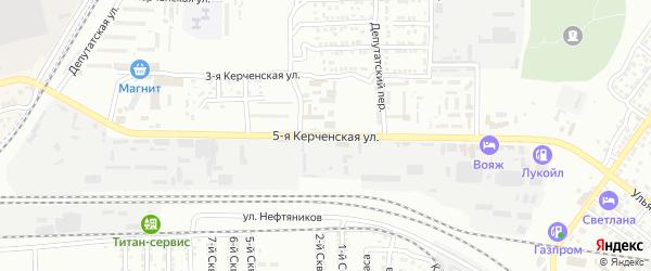 5-я Керченская улица на карте Астрахани с номерами домов