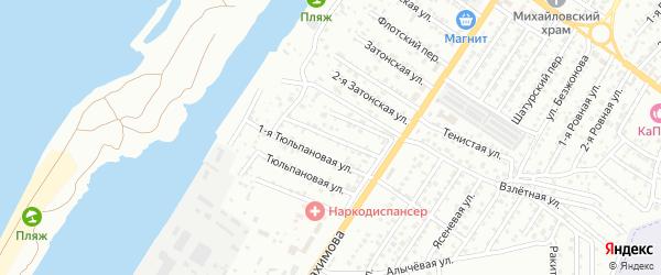 Тюльпановая 2-я улица на карте Астрахани с номерами домов