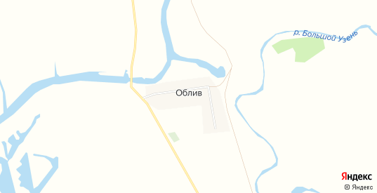 Карта поселка Облив в Саратовской области с улицами, домами и почтовыми отделениями со спутника онлайн