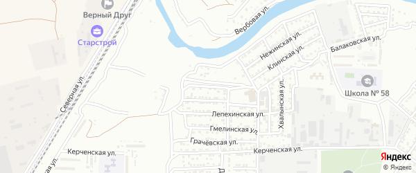 Добровольская улица на карте Астрахани с номерами домов