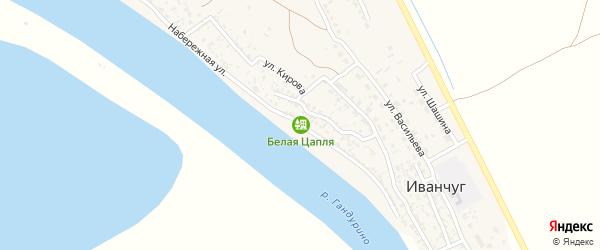 Набережная улица на карте села Иванчуга Астраханской области с номерами домов