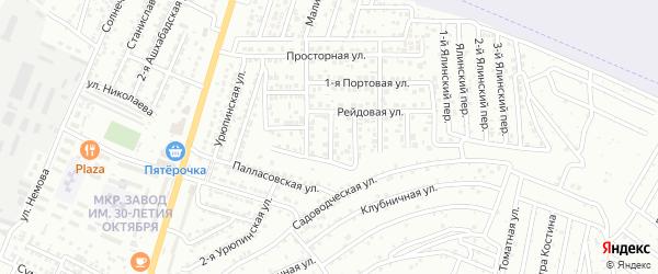 Рейдовый переулок на карте Астрахани с номерами домов