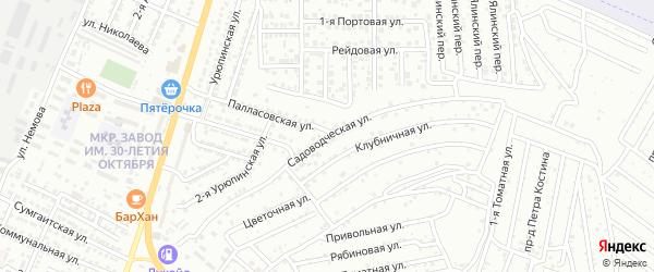 Садоводческая улица на карте Астрахани с номерами домов
