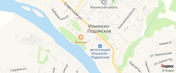 Первомайская улица на карте Ильинско-Подомского села Архангельской области с номерами домов