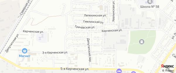 Депутатский переулок на карте Астрахани с номерами домов