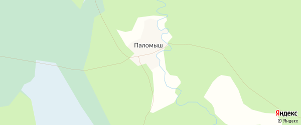 Карта поселка Паломыша в Архангельской области с улицами и номерами домов