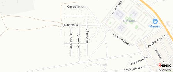 Канская улица на карте Астрахани с номерами домов