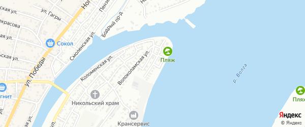 Площадь Артема Сергеева на карте Астрахани с номерами домов